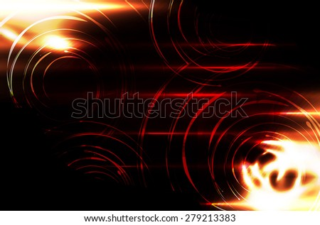Abstract orange background vector.