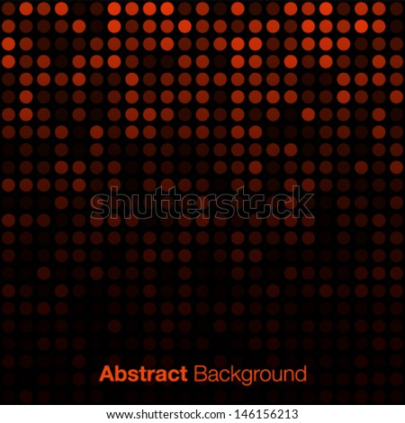 Abstract Orange Background, vector illustration