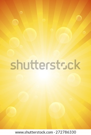 Abstract orange background. Vector Illustration. Clip-art - stock vector