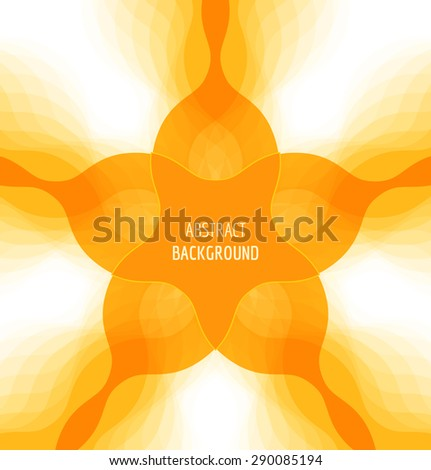 Abstract orange background with banner. Vector illustration - stock vector