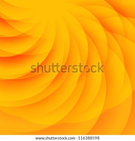 Abstract orange background with transparent semicircles - stock vector