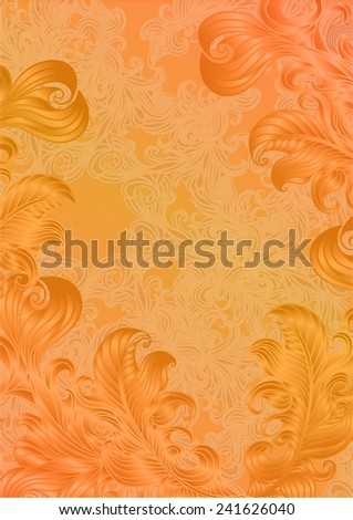 Abstract orange decoration vintage background with space for your text. Suitable for various designs, invitation, thank you card, save the date cards and scrapbooking. Vector illustration 10 EPS - stock vector