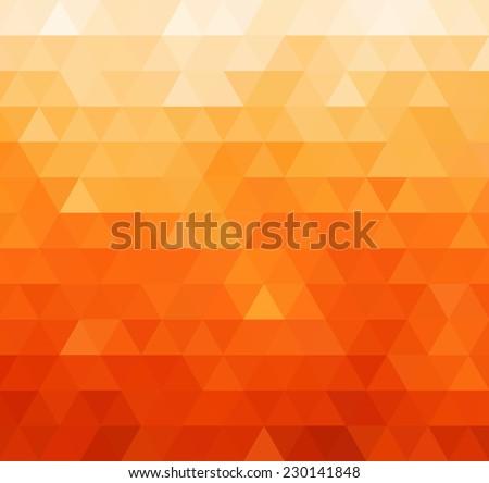Abstract orange geometric background - stock vector