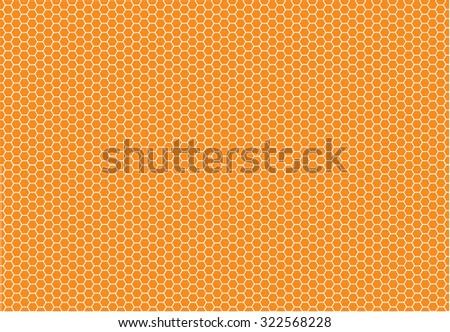 Abstract orange honeycomb vector background - stock vector