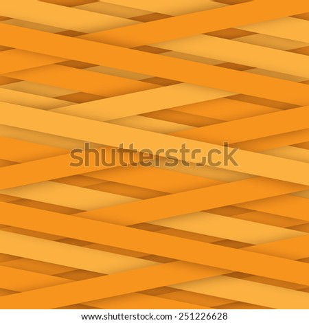 abstract orange paper lines background isolated - stock vector