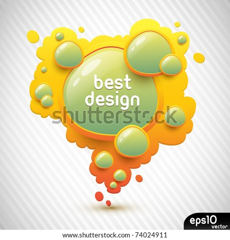 Abstract orange speech bubble (colorful banner) - stock vector