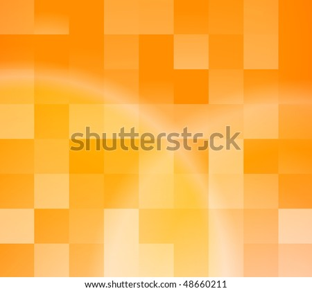 Abstract orange tiles background. Vector illustration - stock vector