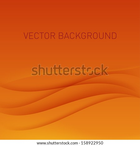 Abstract orange vector background.