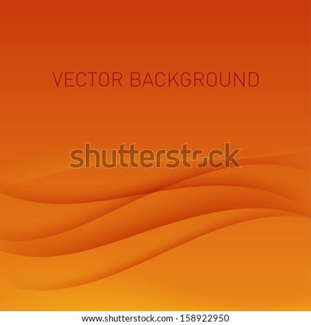 Abstract orange vector background. - stock vector