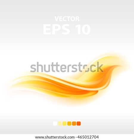 abstract orange wave, vector illustration