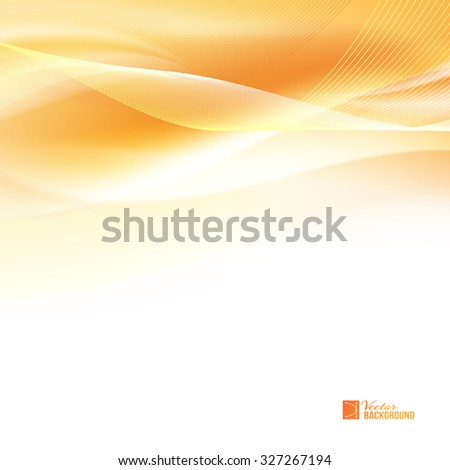 Abstract orange wind. Tender orange light abstract background. Colorful smooth light lines background. Vector illustration, contains transparencies, gradients and effects. - stock vector