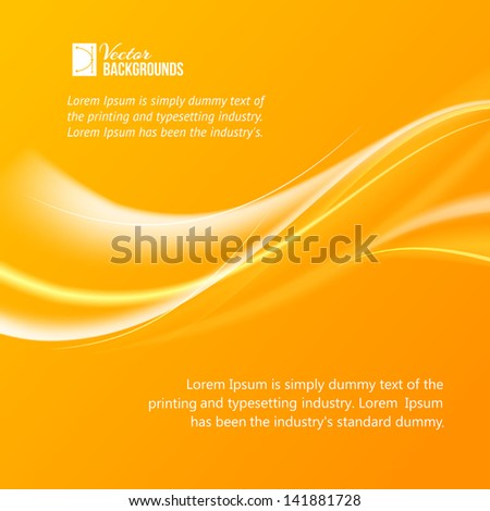 Abstract orange wind. Vector illustration, contains transparencies, gradients and effects. - stock vector