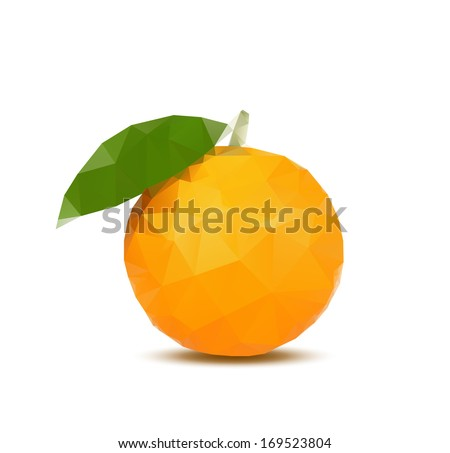 Abstract orange with triangle style - stock vector