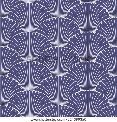 Abstract oriental style seamless pattern - stock vector
