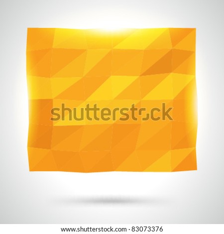 Abstract origami geometric vector background eps 10 - stock vector