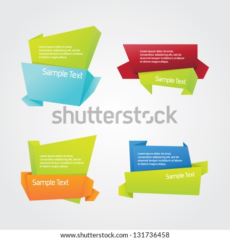 Abstract Origami Set - stock vector
