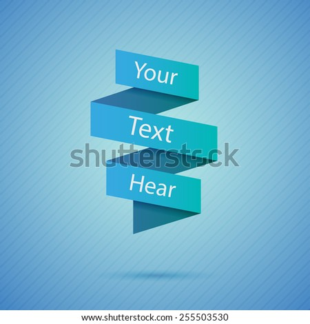 Abstract origami speech background - stock vector