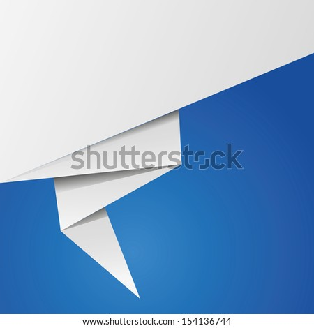 Abstract origami speech bubble background - stock vector