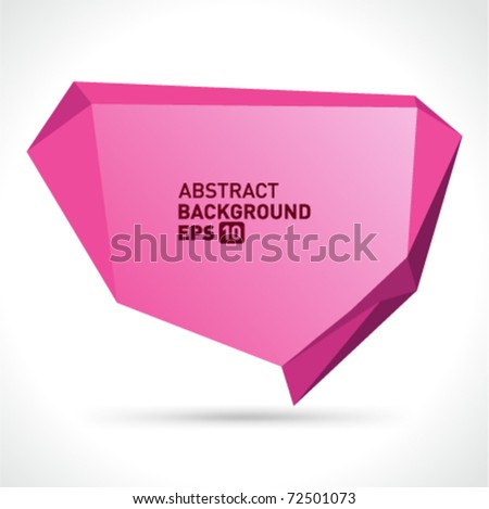Abstract origami speech bubble vector background. Eps 10. - stock vector