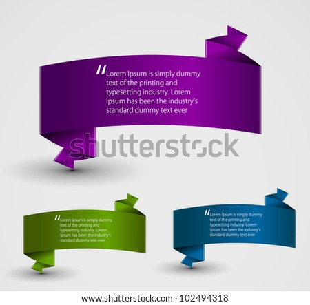 Abstract origami speech bubble vector backgrounds set. Eps 10. - stock vector
