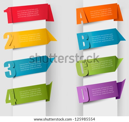 Abstract origami speech bubble with litters and numbers. Vector - stock vector