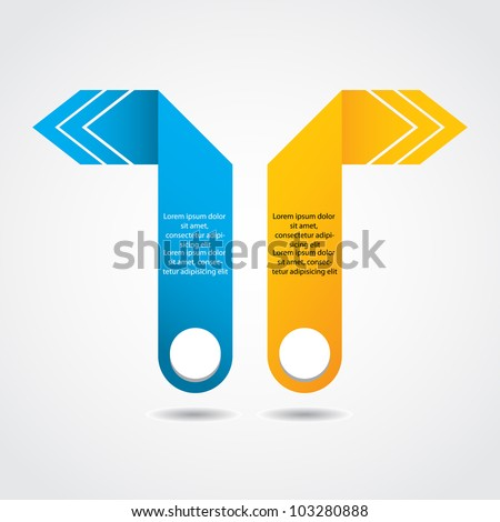 abstract origami speech bubble with special design - stock vector