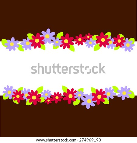 abstract ornament flower background concept. Vector illustration  - stock vector