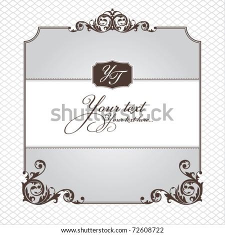 abstract ornamental frame vector illustration - stock vector