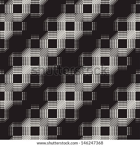 Abstract ornate dotted textured geometric background. Seamless pattern. Vector.