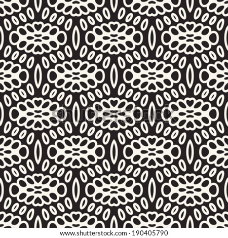 Abstract ornate simplicity floral background. Seamless pattern. Vector. - stock vector