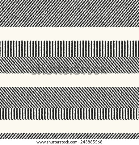 Abstract ornate striped background. Seamless pattern. Vector. - stock vector
