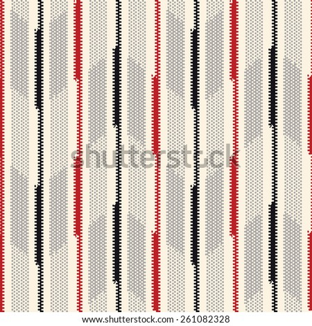 Abstract ornate stroke come together to form a subtle chevron seamless pattern. Vector. - stock vector