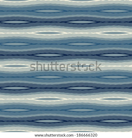 Abstract ornate wavy striped textured seamless pattern. Vector.
