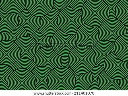 Abstract Overlap Circle Pattern. Vector