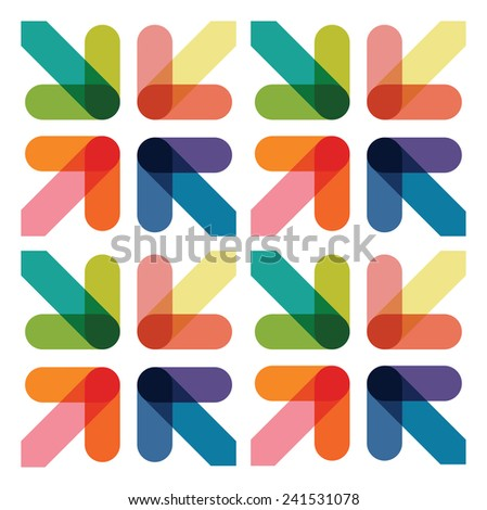 abstract overlapping arrow background - stock vector