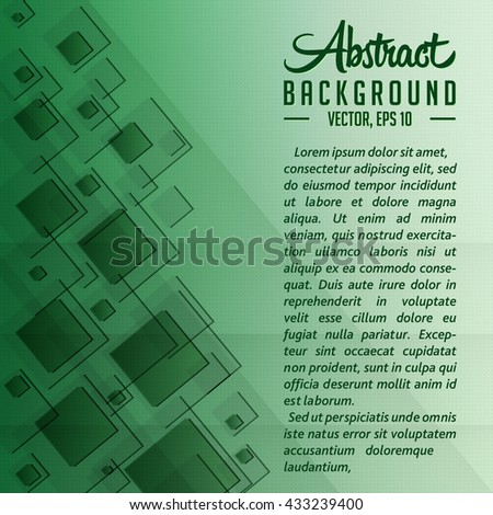Abstract overlapping squares Background. Vector and illustration.