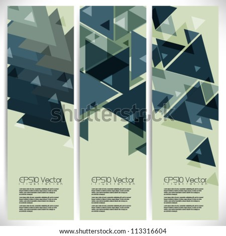 abstract overlapping triangle elements background illustration. eps10 vector format - stock vector