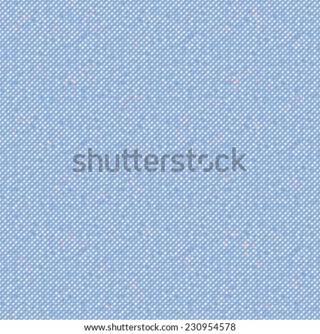 Abstract oxford fabric dot background. Seamless pattern. Vector. - stock vector