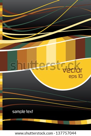 abstract page layout with place for your text, modern glossy concept with colorful shapes and symmetrical lines - stock vector