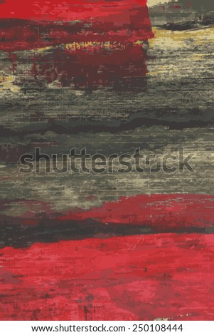 Abstract painted vector background red and green - stock vector