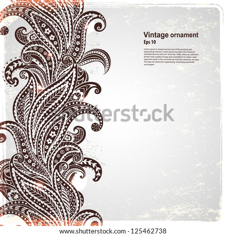 Abstract paisley background - stock vector