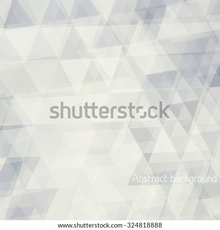 Abstract pale background textured by transparent triangles. Vector graphic pattern - stock vector