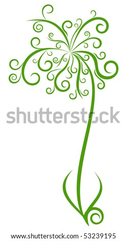 Abstract palm tree. Vector illustration - stock vector