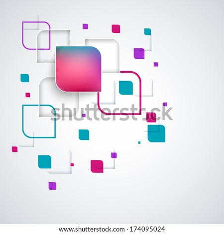 Abstract paper banners background design with squares for websites or business