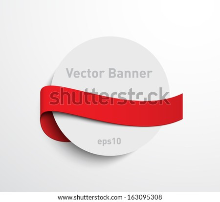 Abstract paper card banner with ribbon for websites or business design. Clean style for invitations, greetings, promotion, gifts, greetings or celebrations - stock vector