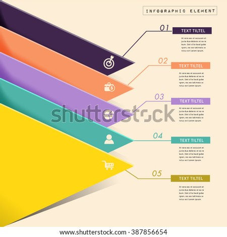 Abstract paper chart  form a triangle. - stock vector