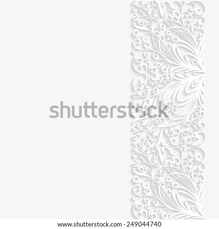 Abstract paper floral background. Vector illustration  - stock vector
