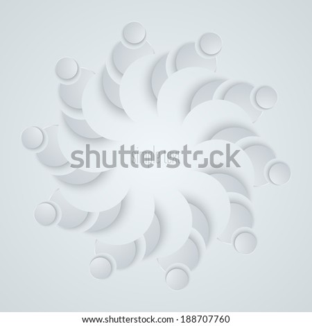 Abstract paper flower. Vector illustration