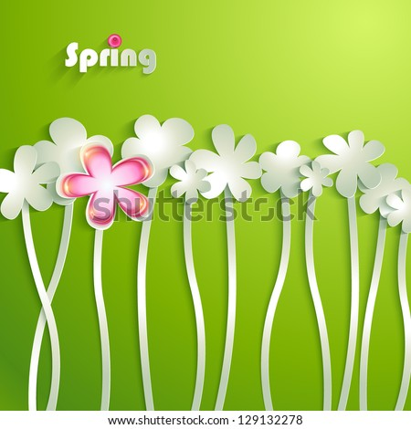 Abstract paper Flowers - stock vector