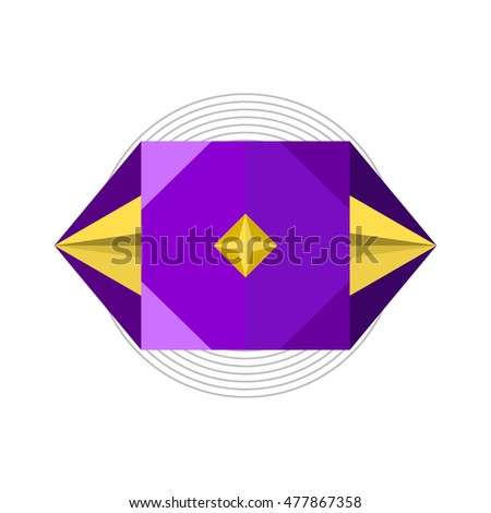 abstract paper fold design, polygon vector illustration